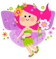 beautiful spring fairy vector image