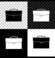 briefcase icon isolated on black white and vector image vector image