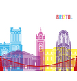 Bristol skyline pop vector image vector image