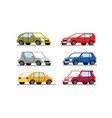 cars different colors on a white background vector image vector image