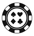 casino chip sign card icon simple style vector image