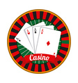 casino gambling concept vector image vector image
