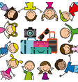children icon design vector image vector image