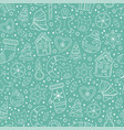 christmas hand drawn seamless pattern vector image vector image