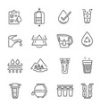 collection line icon water filtration chemical vector image vector image