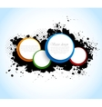 Colorful circles on grunge textures vector image vector image