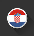 croatia national flag on dark background vector image