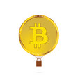 cryptocurrency coin in gold color vector image vector image