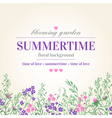 Cute summer card with colored flowers and herbs vector image vector image