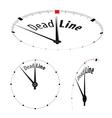 Deadline Clock vector image vector image