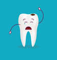 dental problem - sad decayed teeth isolated on a vector image vector image