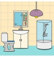 Design of room - bathroom vector image vector image