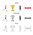design of sport and winner sign collection vector image vector image