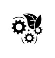 eco technology black icon sign on isolated vector image vector image