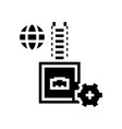 electrical fuse glyph icon vector image vector image