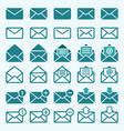 envelope mail icons vector image vector image