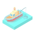 Fishing boat icon cartoon style vector image vector image