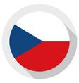 flag czech republic round shape icon on white vector image