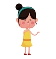 girl happy closed eyes with diadem vector image
