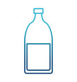 glass bottle with drink vector image vector image