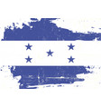 honduras scratched flag vector image vector image