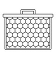 honeycombs icon outline style vector image vector image
