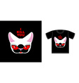 I kill you Angry white cat with red eyes Logo for vector image vector image