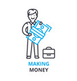 making money concept outline icon linear sign vector image vector image