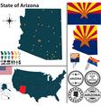 map arizona vector image