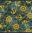 marine anchor ship rudder and rope vector image
