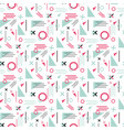 memphis seamless pattern valentines day vector image