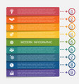 modern strips infographics 9 options banner vector image vector image
