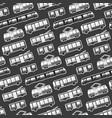 monochrome cartoon flat city transport pattern vector image