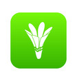 nature flower icon green vector image vector image