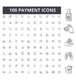 payment line icons signs set outline vector image vector image