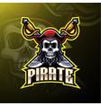 pirates mascot gaming logo design vector image