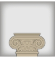 postament from ionic capital vector image vector image