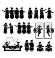 pregnant mother group and friends together stick vector image