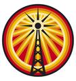 radio antenna symbol vector image vector image