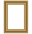 realistic wooden frame vector image