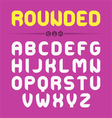 Rounded font design vector image vector image