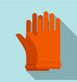 rubber electric gloves icon flat style vector image vector image