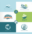 seafood fish restaurant symbols vector image vector image