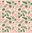 seamless floral pattern background tropical vector image vector image