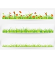 set backgrounds with green grass vector image