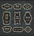 set design elements sample labels badges shapes vector image vector image