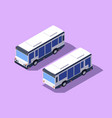 set front and back view bus for transportation of vector image vector image