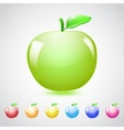 Set of glass apples vector image vector image