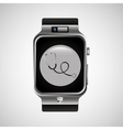 smart watch stethoscope health technology vector image vector image