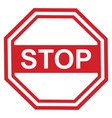 stop sign design red vector image vector image